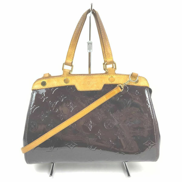 Louis Vuitton Brea PM  M91622 Purple Vernis Hand Bag 11535