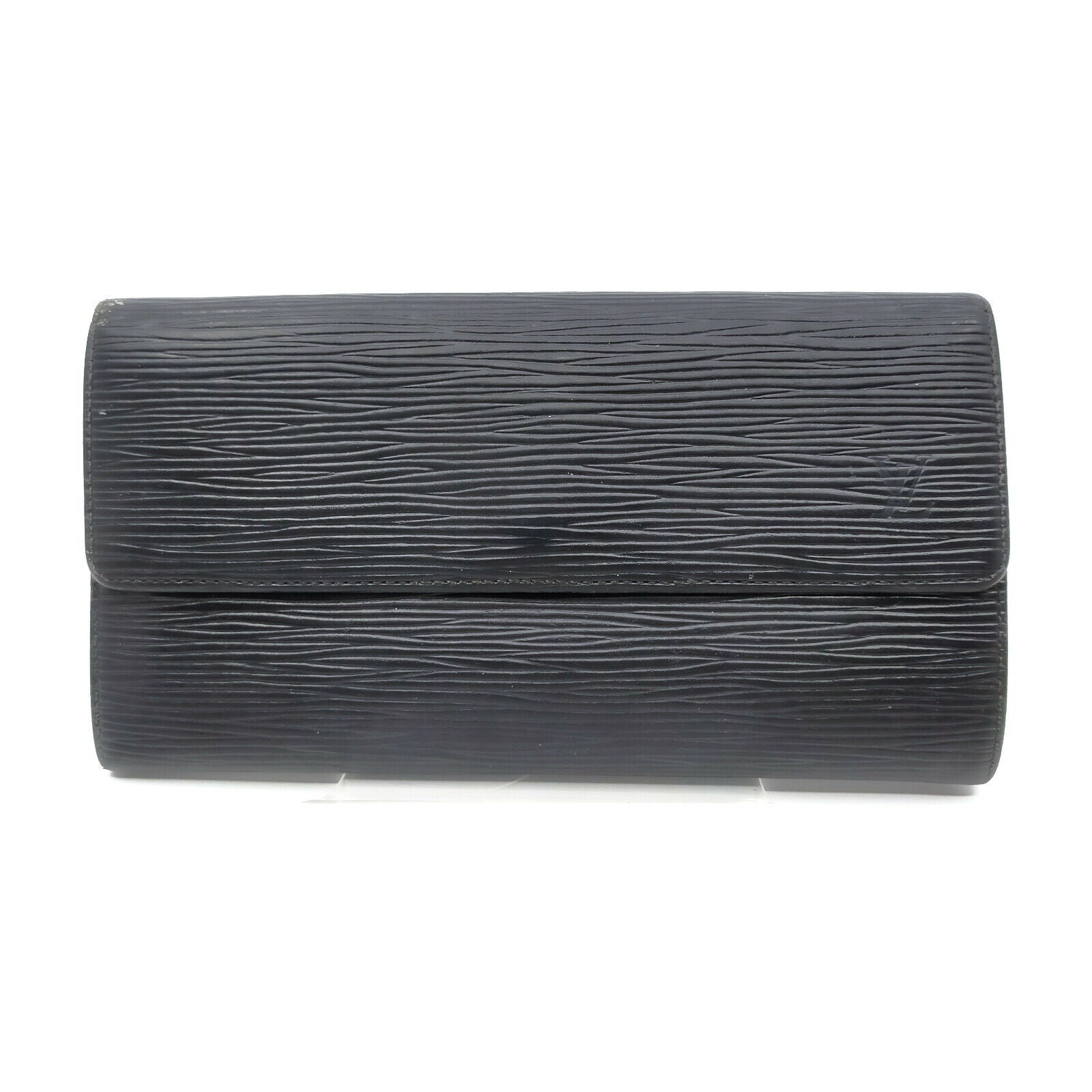 Louis Vuitton Portefeuille Sarah Black Epi Long Wallet  11565