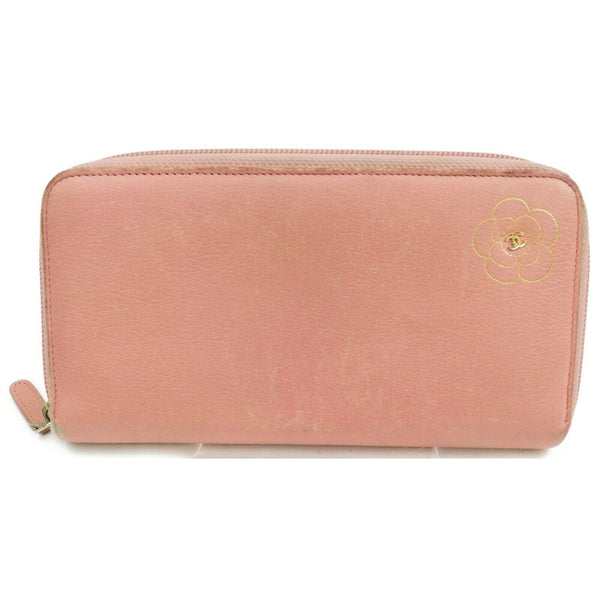 Chanel Camellia Coco Pink Leather Zippy Wallet 11433 - eModaOutlet