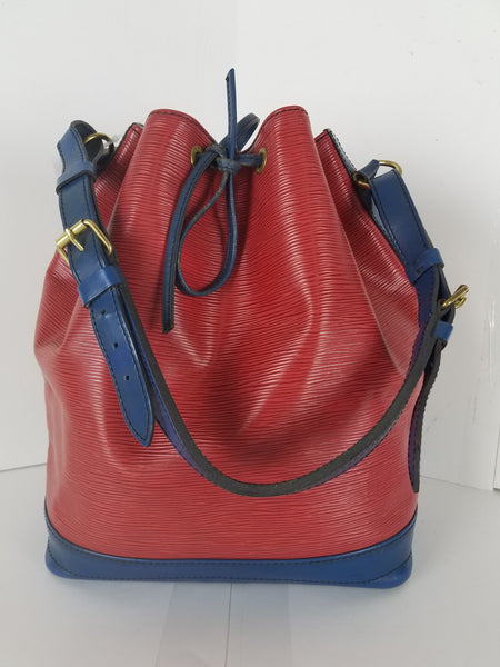 Louis Vuitton NOE M44084 EPI Bicolor Red Blue Shoulder Bag 10808