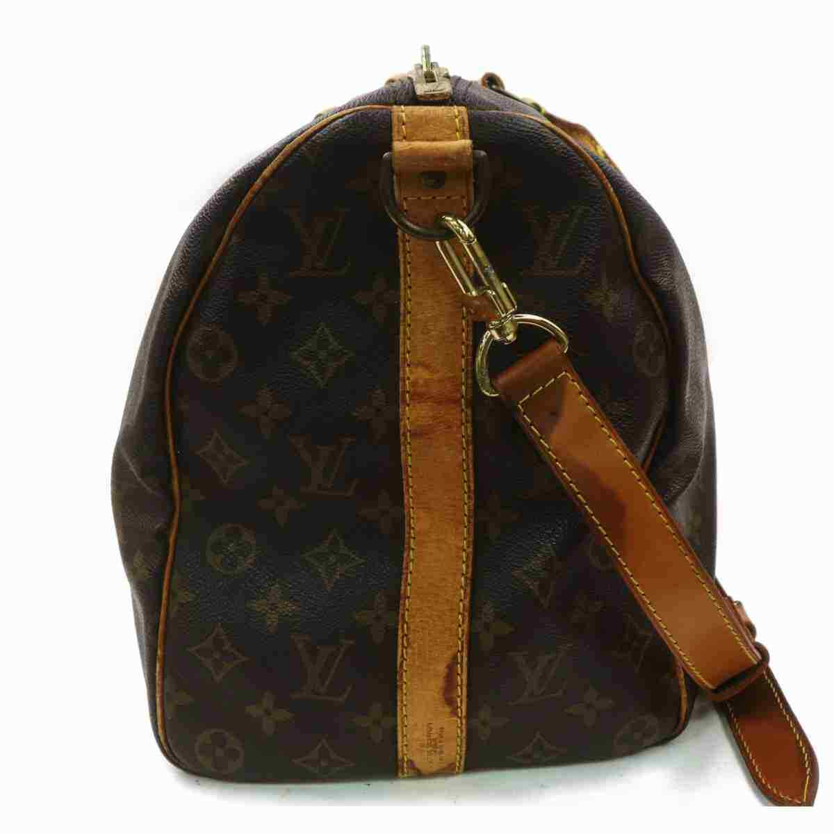Louis Vuitton Keepall Bandouliere 45 M41418 Brown Monogram Boston Bag 11481