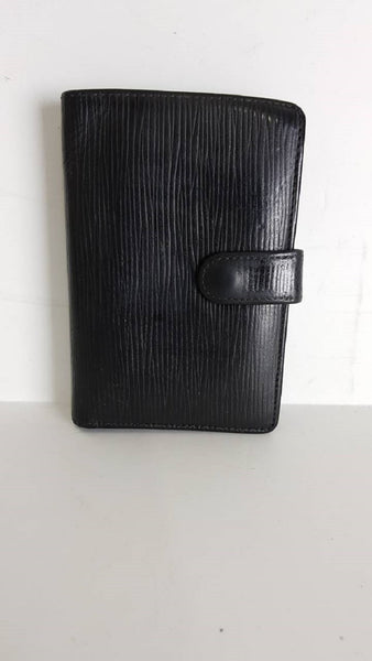 Louis Vuitton Agenda PM Black Epi Wallet 11163 - eModaOutlet