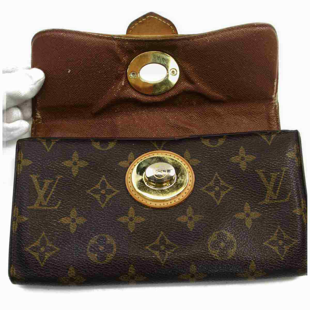 Louis Vuitton Boetie M63220 Brown Monogram Long Wallet  11505