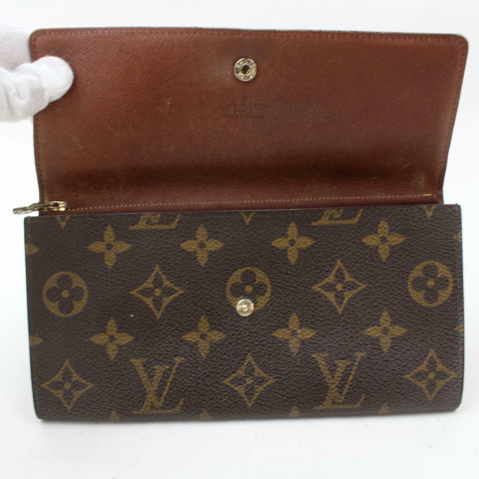 Louis Vuitton  Portefeuille Sarah Brown Monogram Long Wallet 11329 - eModaOutlet