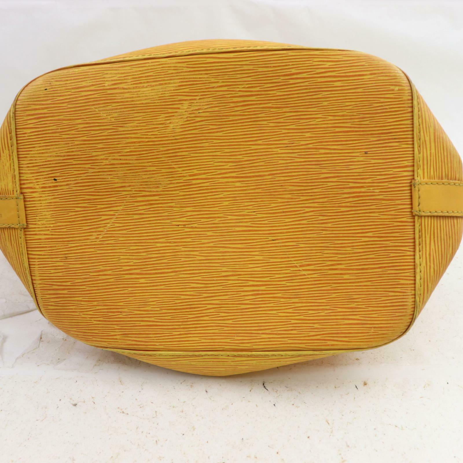 Louis Vuitton Petit Noe M44109  Yellow Epi Shoulder Bag 11311
