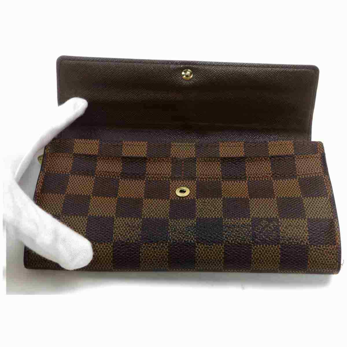 Louis Vuitton Portefeuille Sarah Damier Ebene Long Wallet 11470