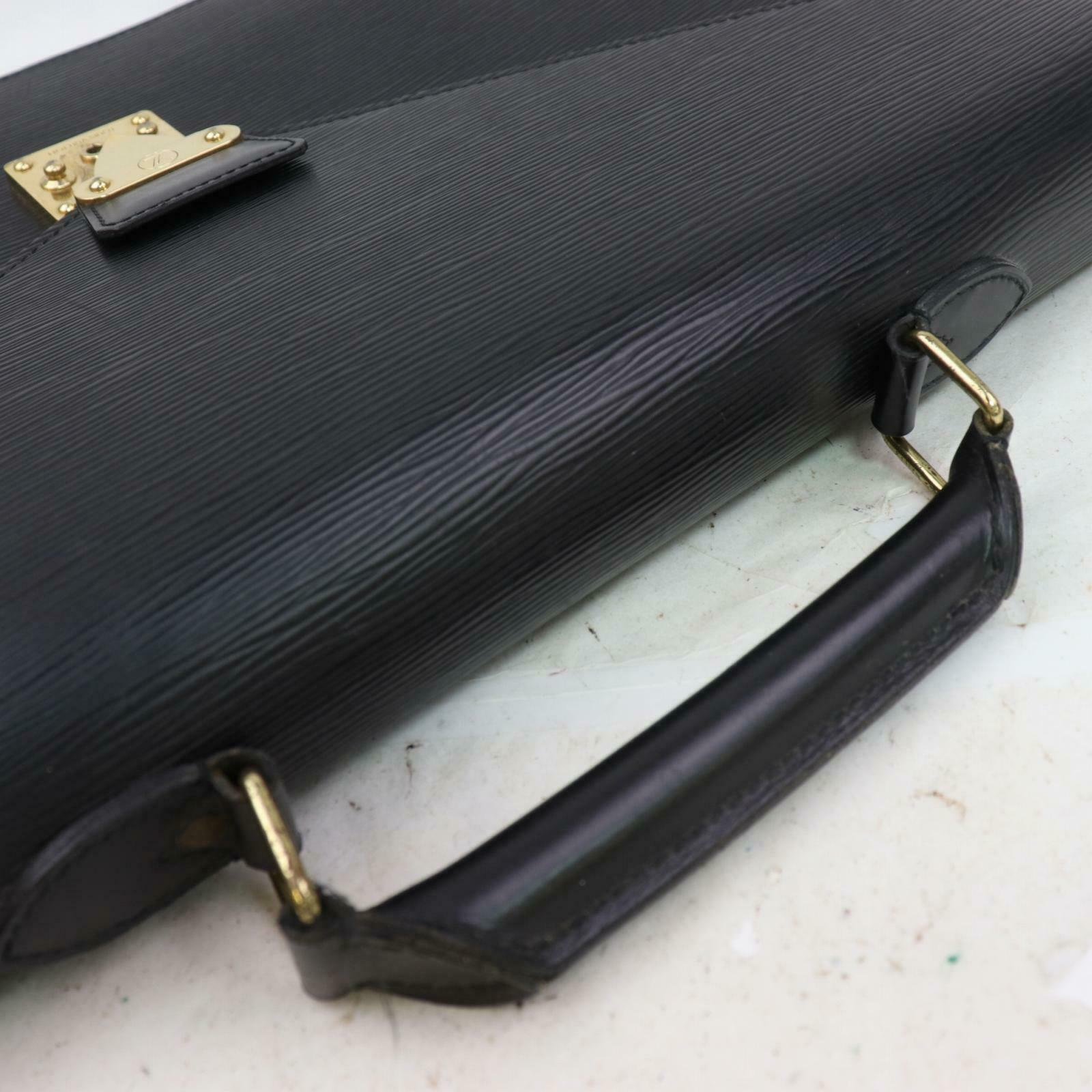 Louis Vuitton Serviette Ambassadeur M54412 Black Epi Brief Case 11319