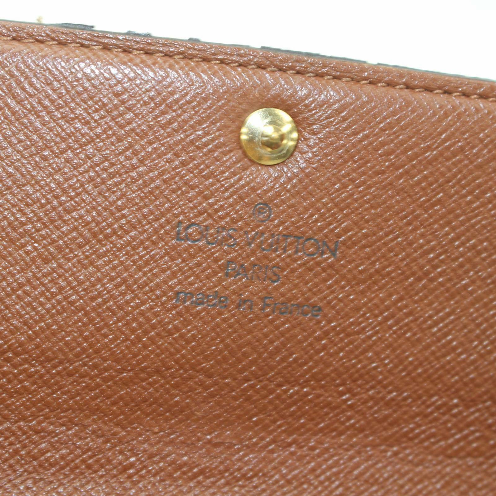 Louis Vuitton Portefeuille Sarah Brown Monogram Long Wallet 11299