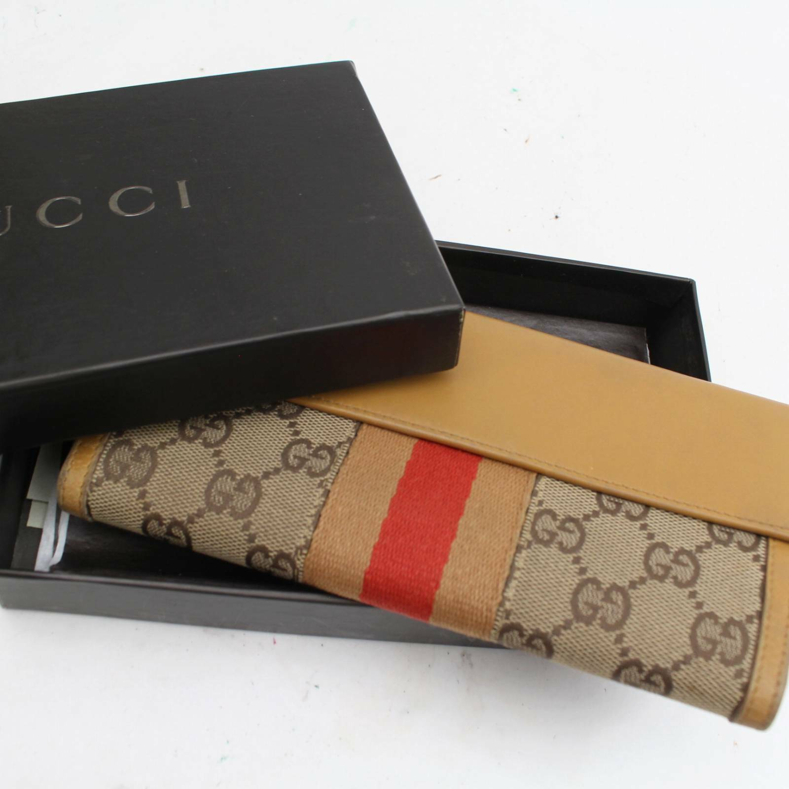 Gucci Brown Canvas Long Wallet 11339 - eModaOutlet