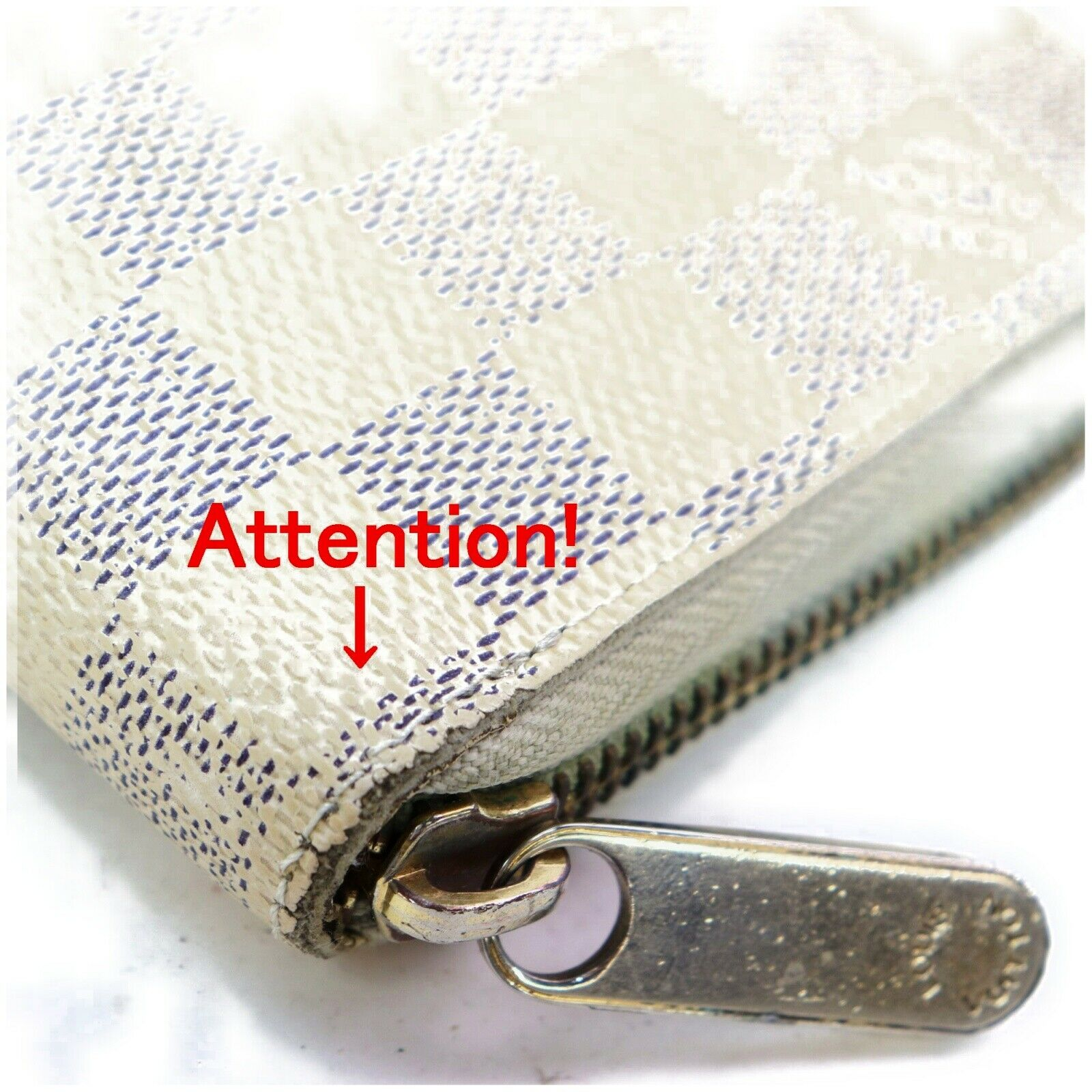 Louis Vuitton Zippy N60019 White Damier Azur Zippy Wallet 11425