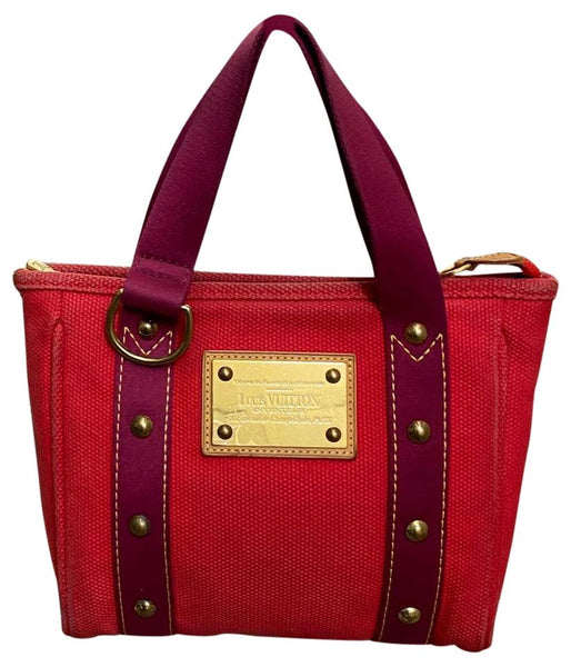 Louis Vuitton Antigua Cabas PM Red Canvas Tote Bag 11499