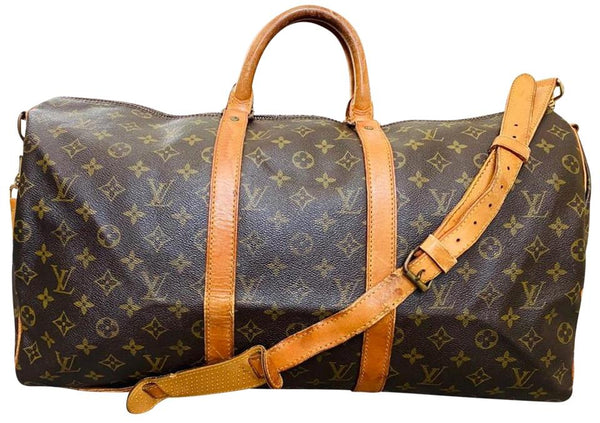 Louis Vuitton Keepall Bandouliere 55 M41414 Brown Monogram  Boston Travel Bag 11511