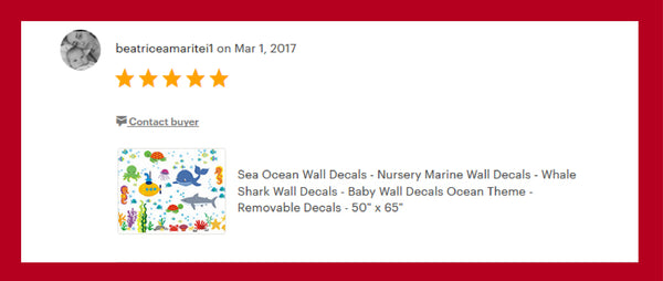 Baby Room Marine Animal Decals