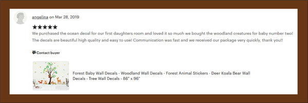 Woodland Animal Forest Stickers Kids Room
