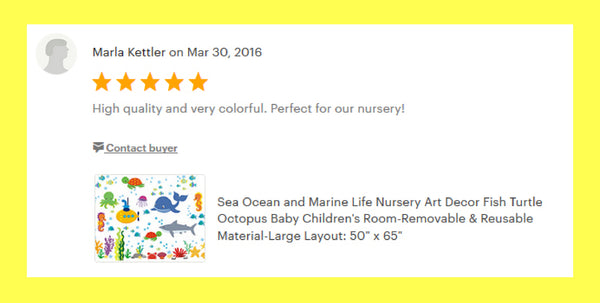 Under the Sea Ocean Decals Kids Room