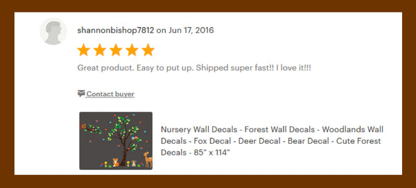 Forest Wall Stickers Woodland Themed