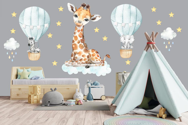 Cute Giraffe Wall Decal