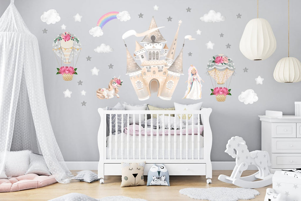 girls castle wall decals