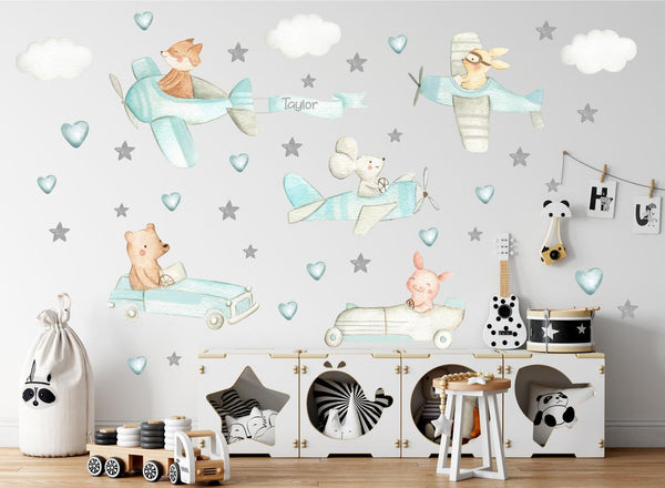 airplane nursery decals