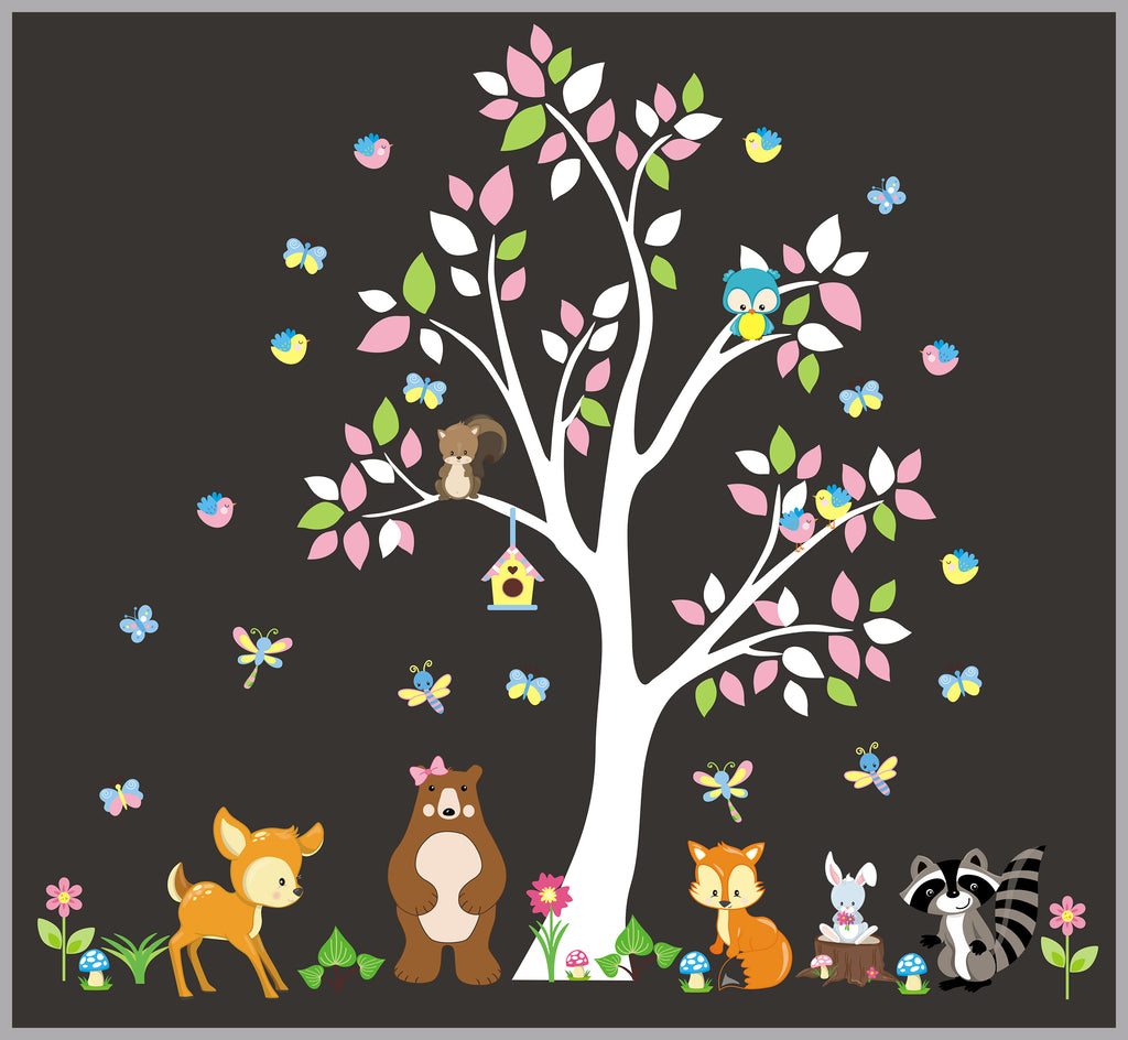 Baby Decal White Tree