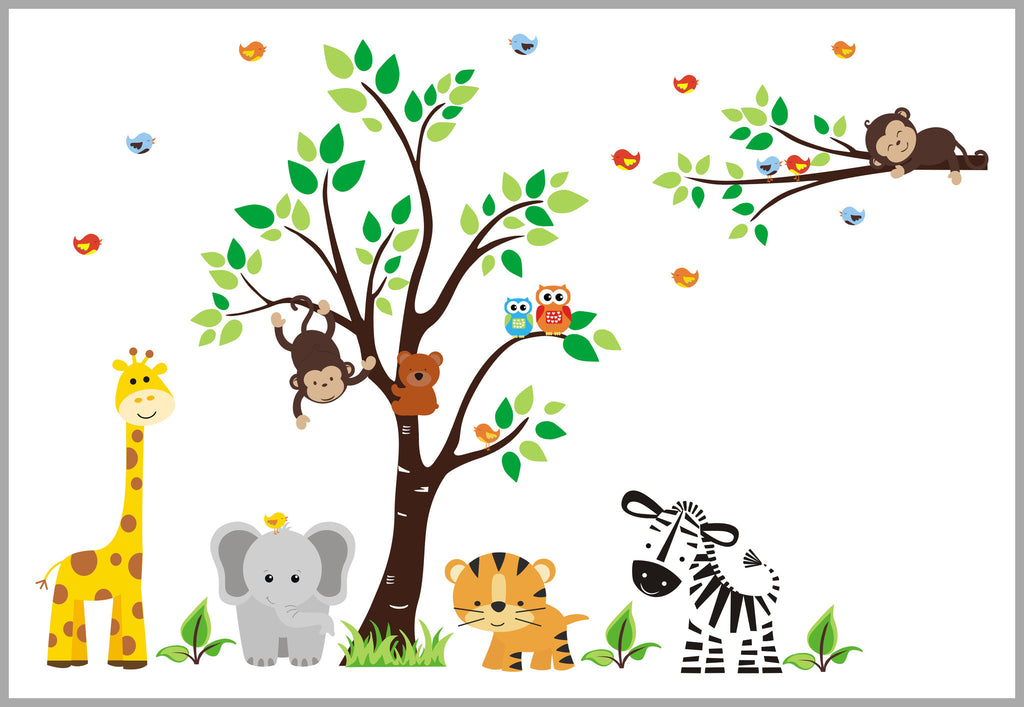 Safari Nursery Decals Large Animal Stickers Baby Shop