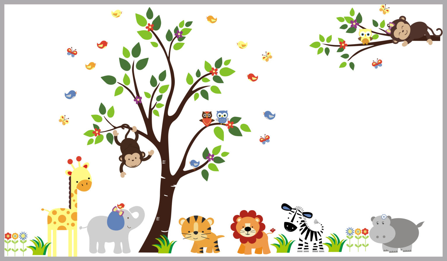 Nursery Wall Decal Safari Wall Stickers Kids Room Decals