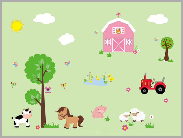 Barn Sheep Tractor Decal