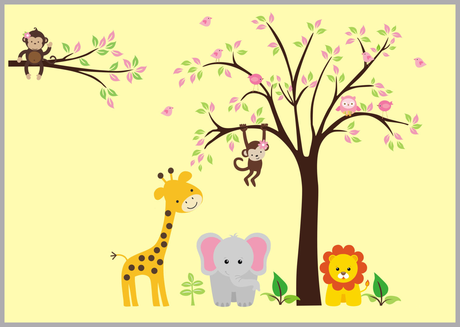 Animal Stickers | Safari Wall Decals | Jungle Wall Decals | Nursery ...