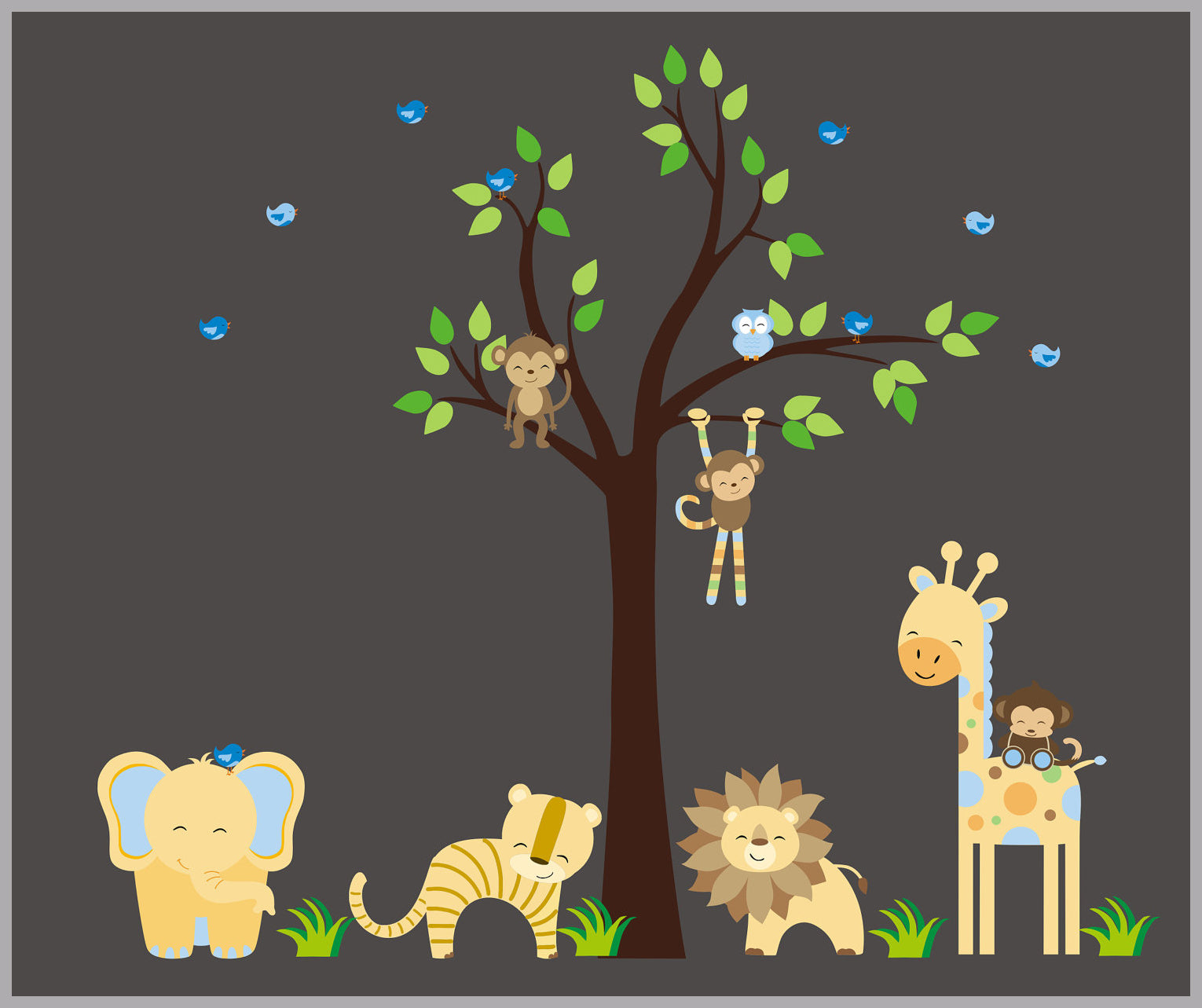 Childrens Nursery Decor Jungle Wall Decals Safari Wall Decals