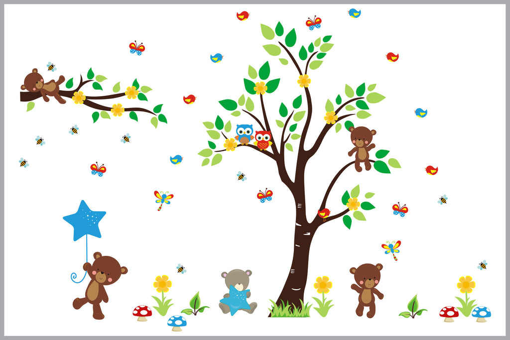 Nature Themed Nursery Decals Better than Vinyl Decals High Quality