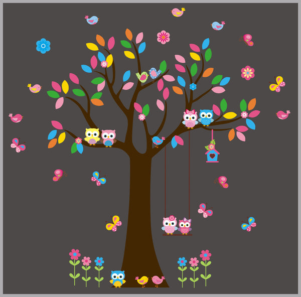 Pink Forest Baby Stickers Mural
