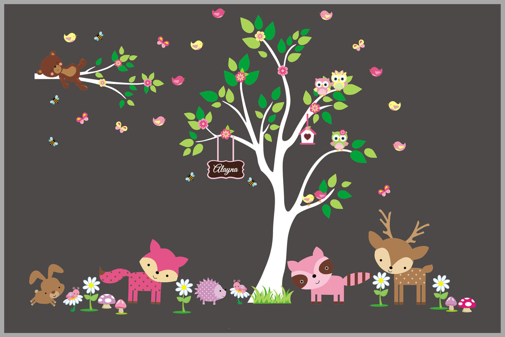 Forest Animal Girls Decals
