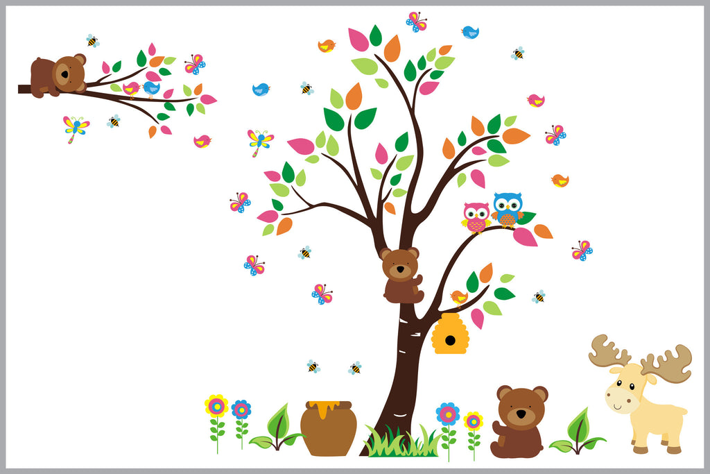 Forest Woodland Nursery Room Stickers Babies
