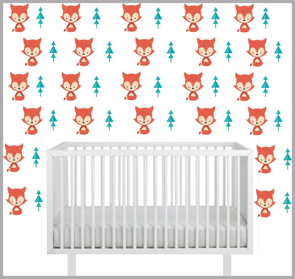 Fox Pattern Decals
