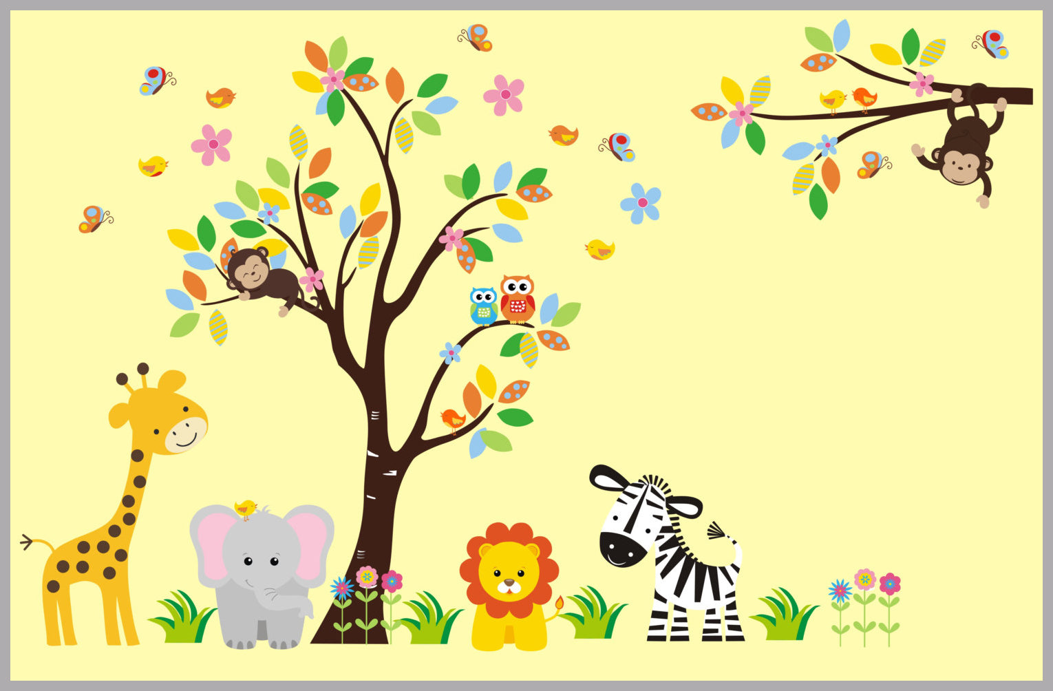 Animal Wall Stickers | Animal Wall Decals | Nursery Wall Decals ...