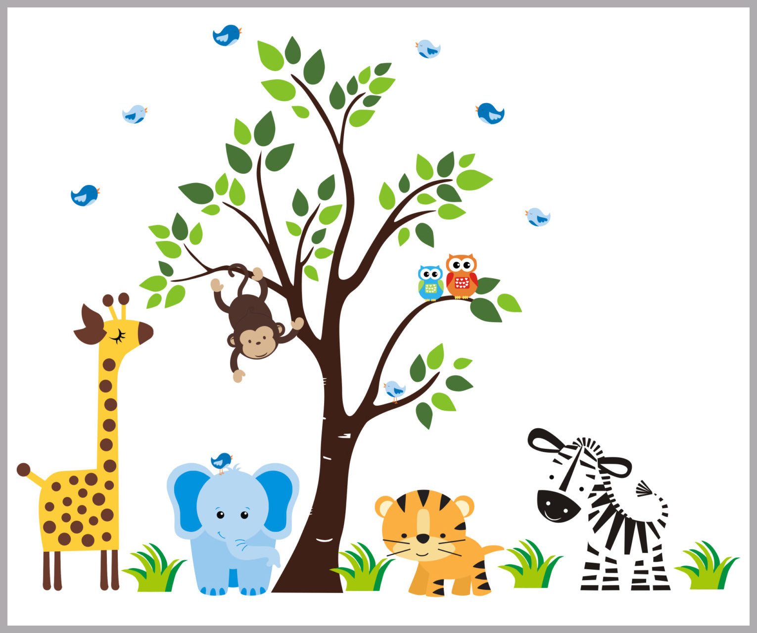 wall stickers nursery wall decals nature baby nursery mural rh nurserydecals4you com