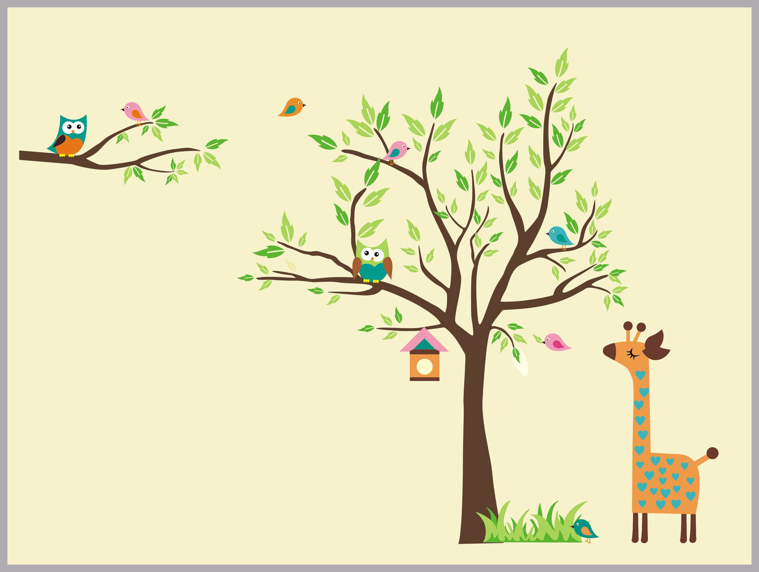 Baby Room Decals | Nursery Wall Decals | Animal Wall Decals ...