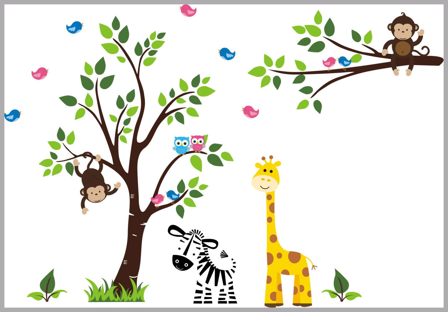 Zoo Animal Decals Nursery Wall Decals Jungle Animal Decals