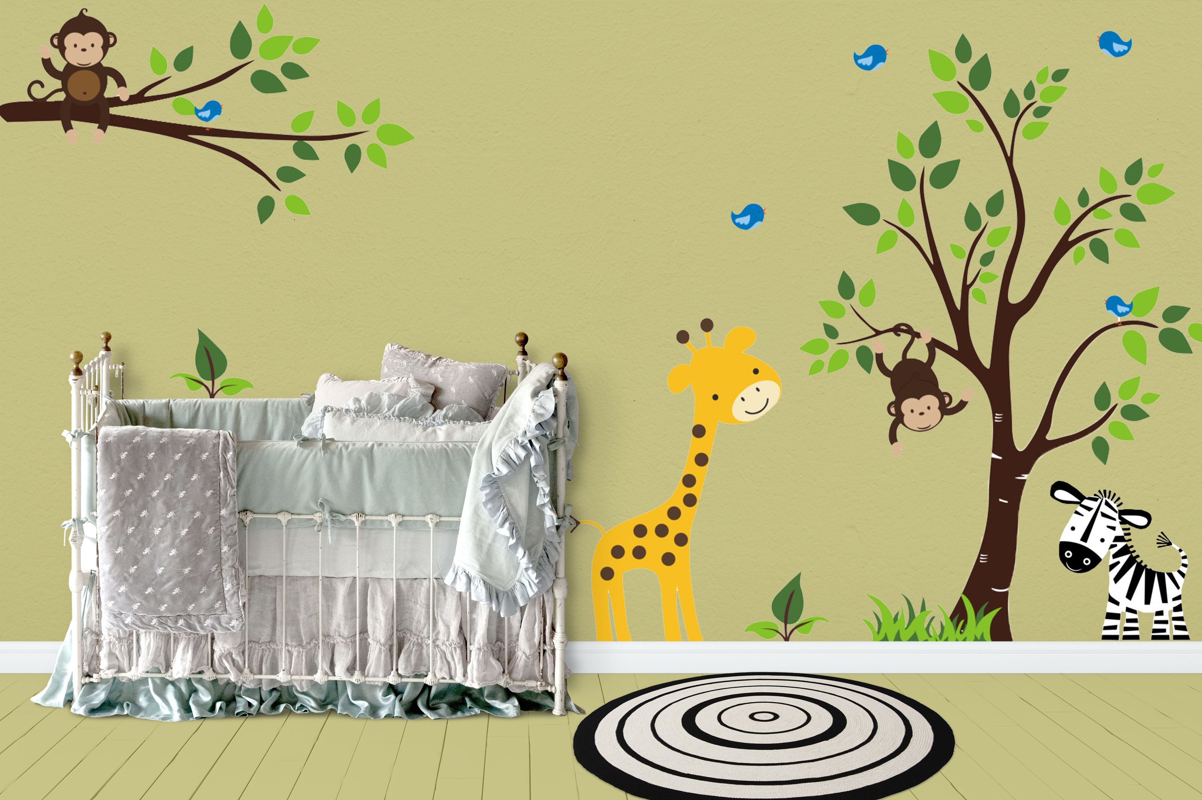 Jungle Wall Decals | Safari Wall Decals | Nursery Room Stickers ...