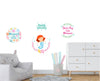 Mermaid Nursery Decals