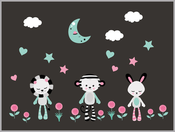 Moon Cloud Girls Decals