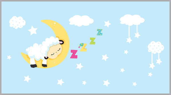 Sleeping Lamb Moon Decal
