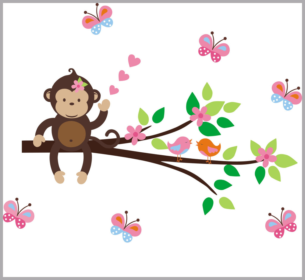 Monkey Branch Wall Decals