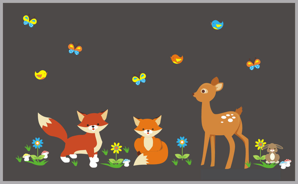 Deer Fox Butterflies Birds Decals
