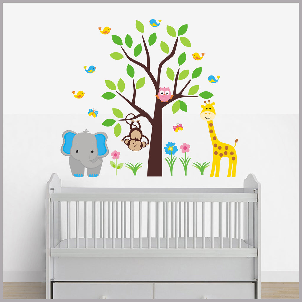 Large Animal Decals Baby Room