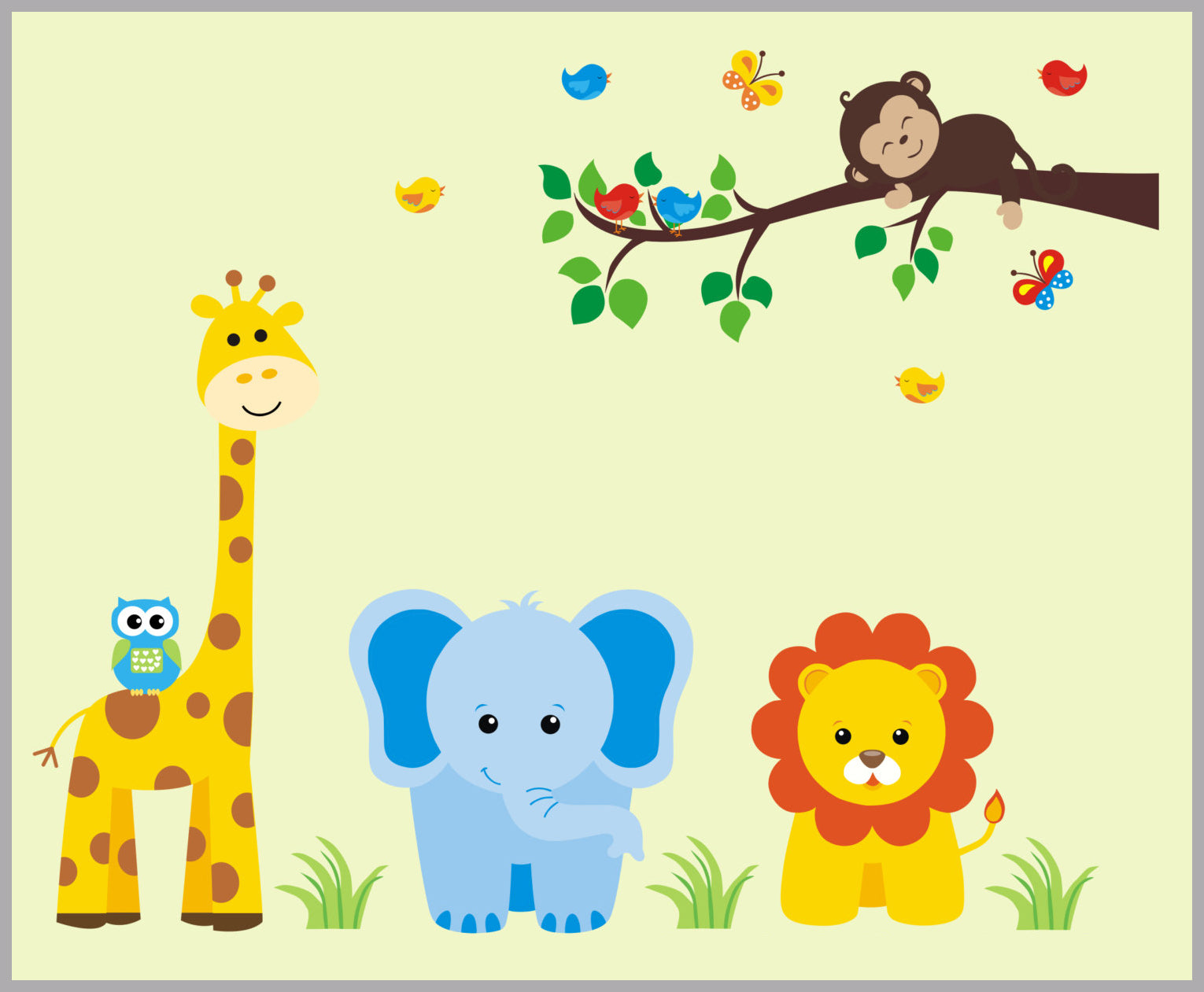 Safari Wall Decals   Jungle Wall Decals   Baby Wall Decals   Baby ...