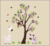 Purple Animal Decals Baby Room