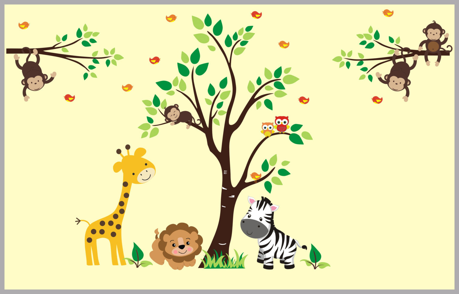 Nursery Wall Decals | Safari Animal Decals | Jungle Animal Stickers ...