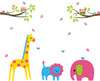 Giraffe Lion Branch Owl Stickers