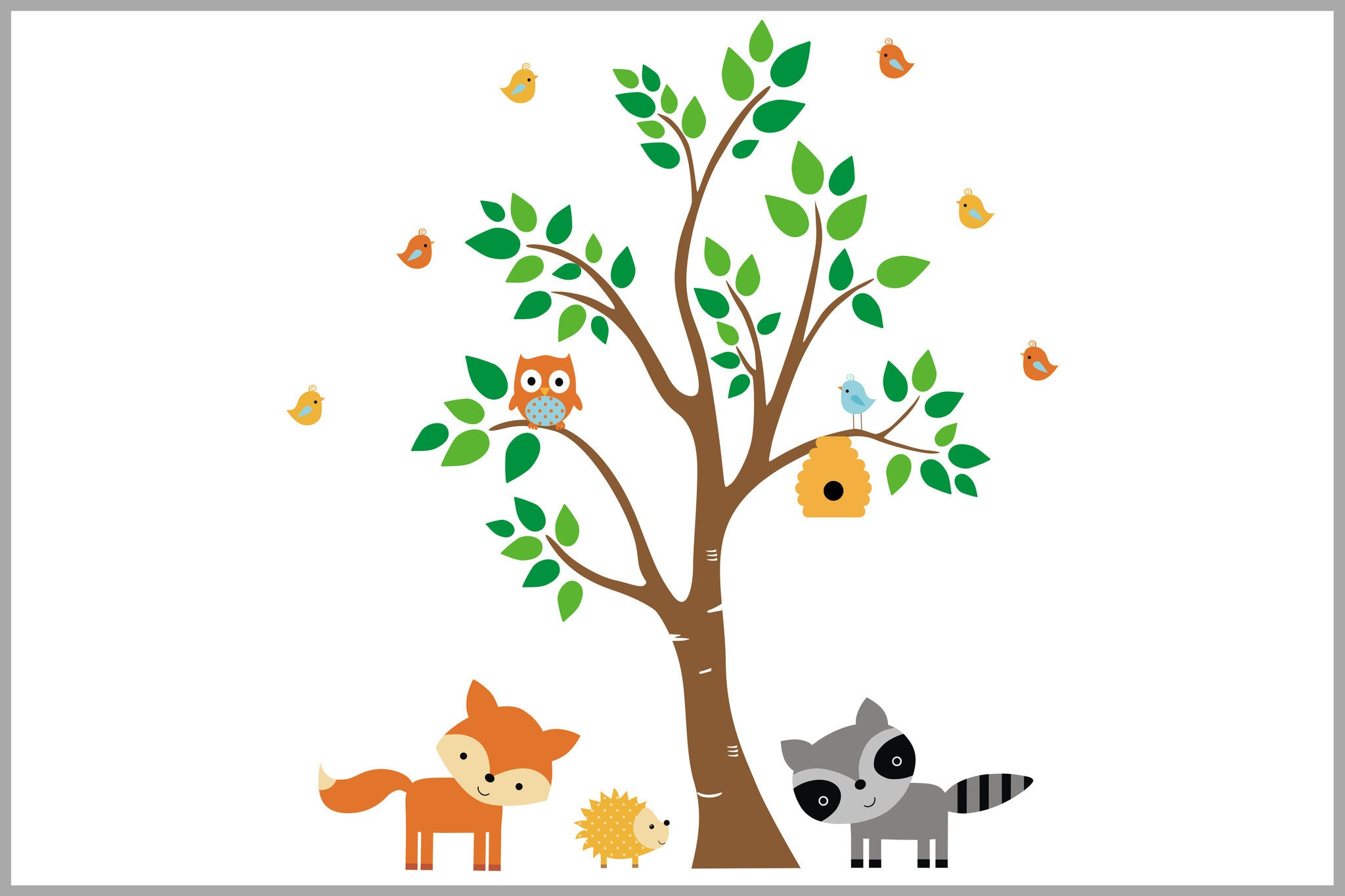 Forest Nursery Decor Baby Wall Stickers Large Tree Decal Kids